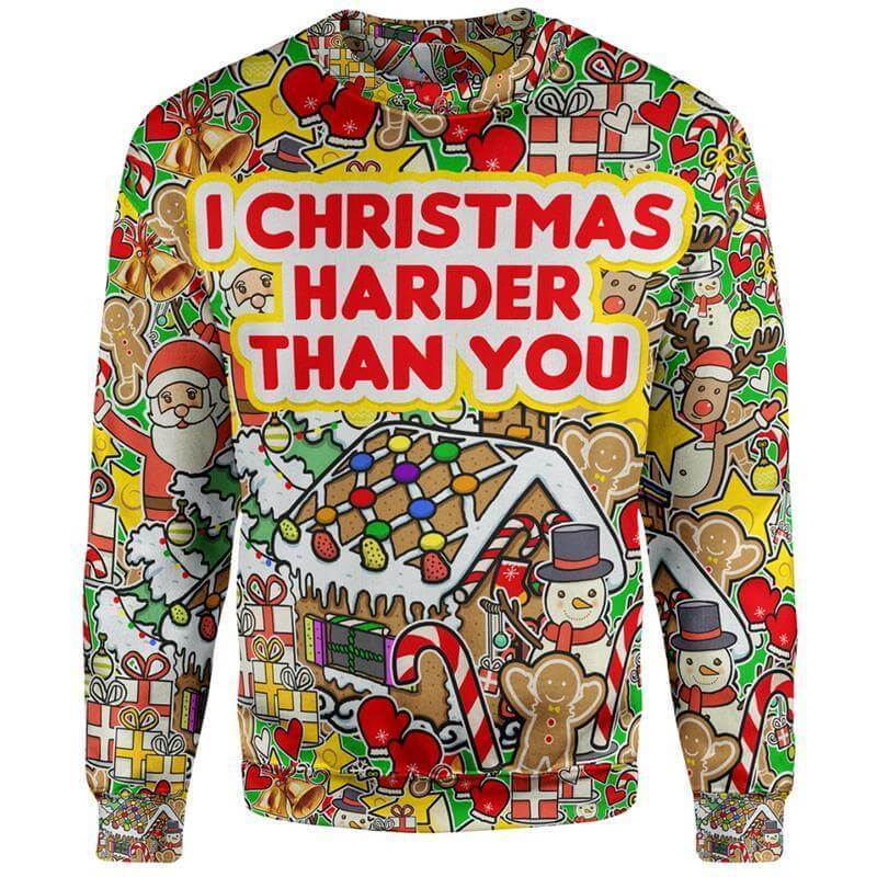 Christmas Sweater S I Christmas Harder Christmas Sweater I-Christmas_Sweater_SM
