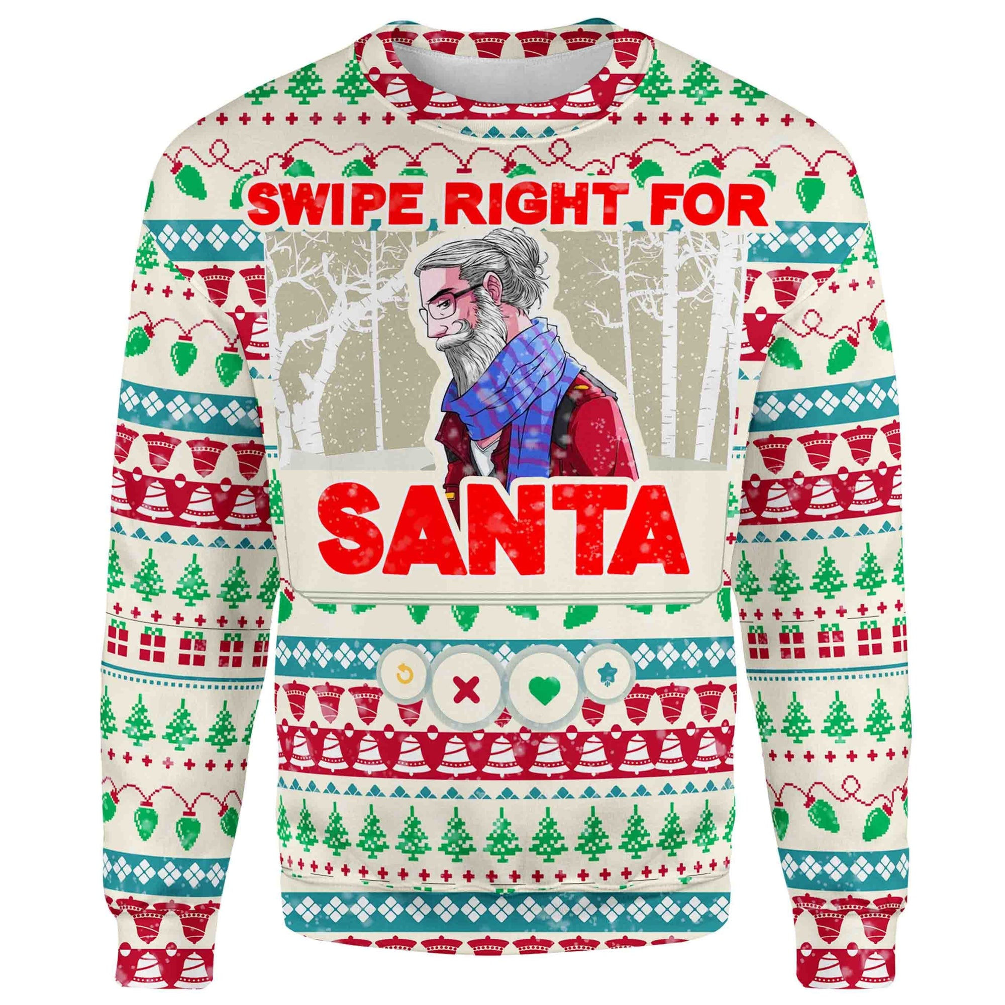 Swipe Right For Santa Christmas Sweater