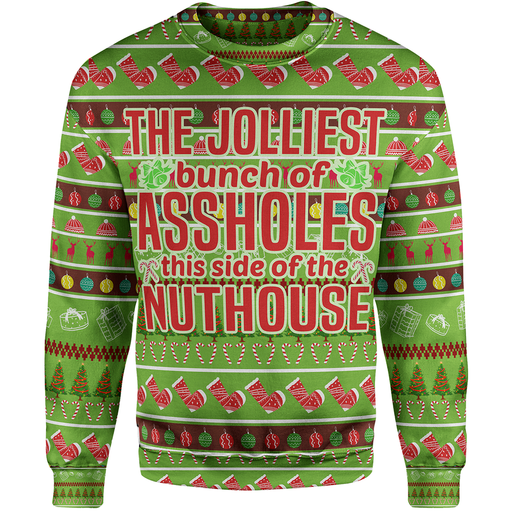 The Jolliest Bunch Christmas Sweater