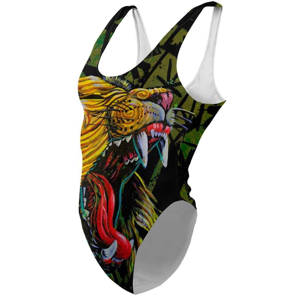 African Lion One-Piece Swimsuit