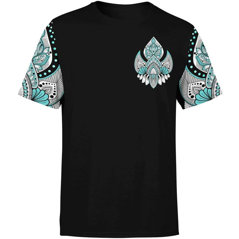 Shirt S Lotus Blossom Shirt INTRICATE-MANDALA-BLUE_T-SHIRT-3.0_SM