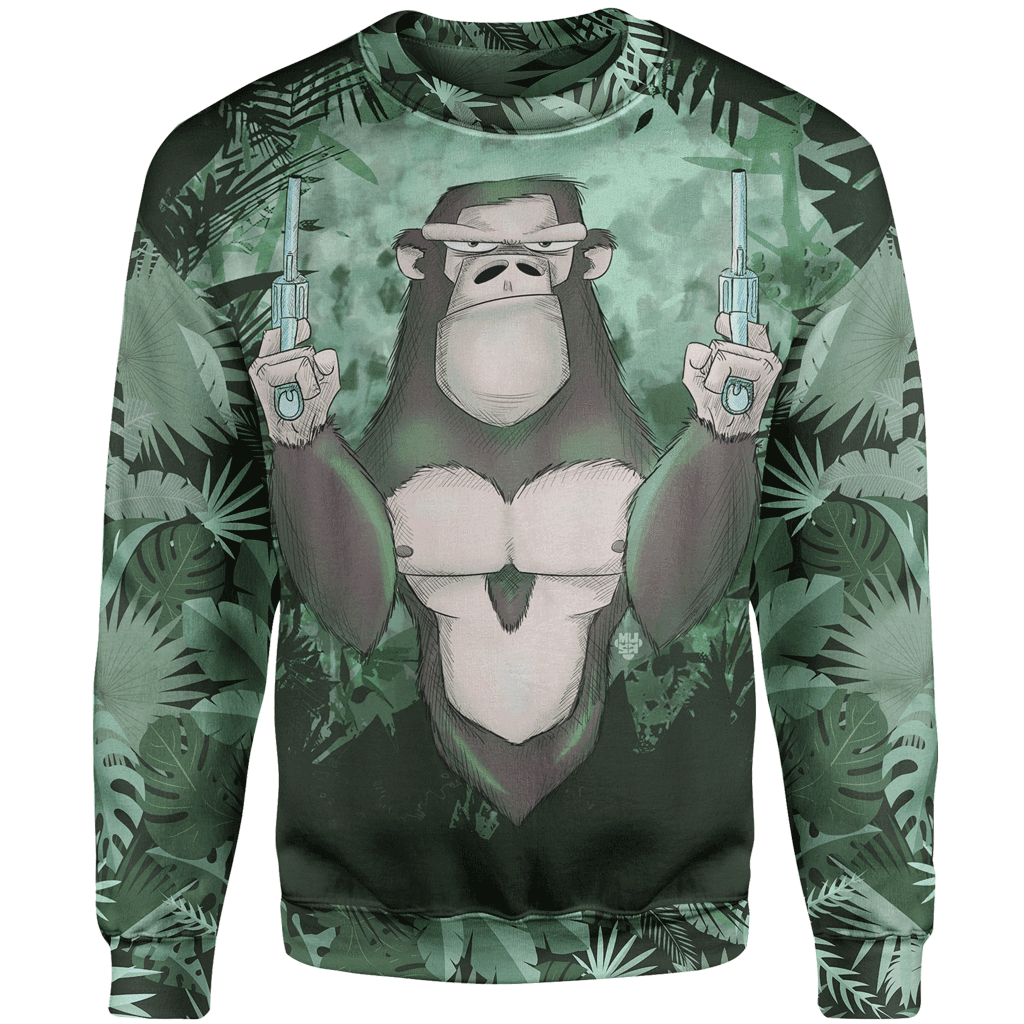 Sweater 4XL If You're Going To Fight  Sweater MONKEY_SWEATSHIRT-3.0_4XL-01