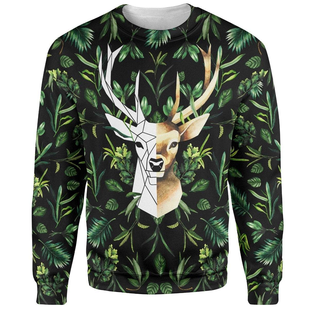 Sweater Geometric Deer Sweater