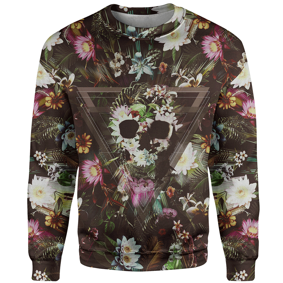 Flower Skull Sweater