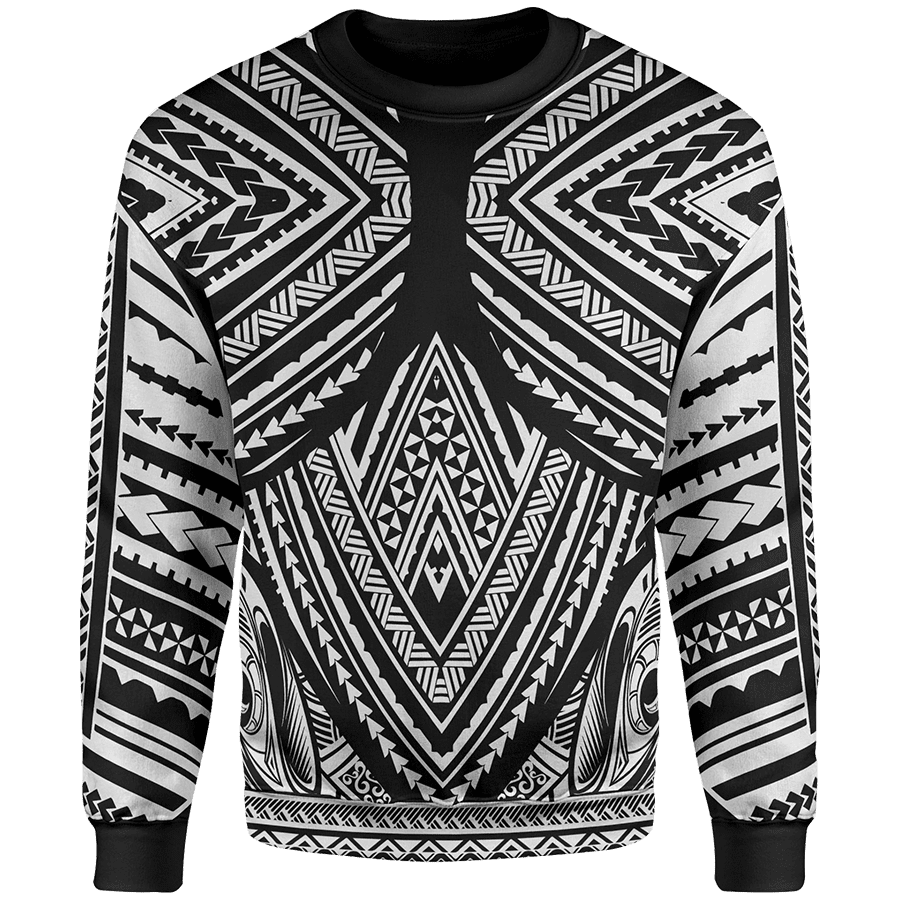 Sweater S / White The Oro Sweater POLYTATTOO-WHITE_SWEATSHIRT_SM