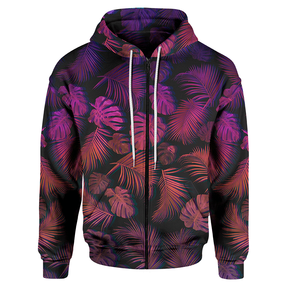 Deep Jungle Zip Hoodie