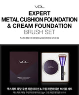 VDL Expert Metal Cushion Foundation #A201 & Cream Foundation Brush Set