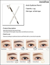 Innisfree Eco Eyebrow Pencil , 6 colors are available