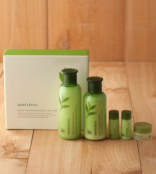 Innisfree Green tea balancing skin care set, 5 pcs/box