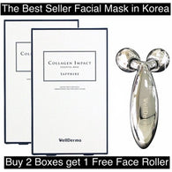 WellDerma Collagen Impact Essential Mask, 20 Sheets + 1 Free Face Lifting Roller, Free Shipping