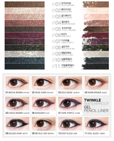 Secret Key Twinkle Waterproof Gel Pencil Liner, 6 colors available