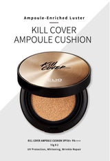 Clio Kill Cover New Ampoule Cushion Set, 15g+1 refill