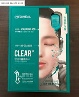 Mediheal Capsule 100 Bio Seconderm Mask, Clear Alpha/Hydro Beta/Light Gamma, Single Sheet