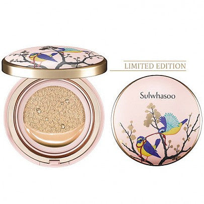 Sulwhasoo Perfecting Cushion Limited 2017 Edition -Gold Bird Arafeel Pink, 15g+1 refill