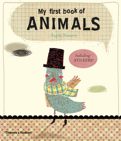 My First Book of Animals, Including Stickers - by Angels Navarro