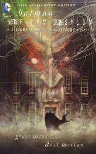 9781401204259 Arkham Aylum - by Grant Morrison, Signed & Illustrated by Dave McKean