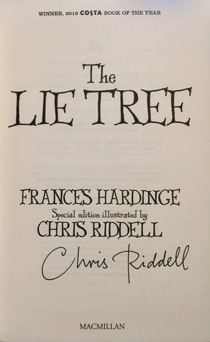 9781509837557 The Lie Tree Illustrated Edition by Frances Hardinge Signed & Illustrated by Chris Riddell