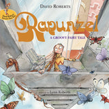 9781843651826 Rapunzel, A Groovy Fairy Tale - by Lynn Roberts, Signed & Illustrated by David Roberts