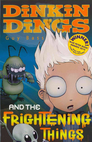 9781847150684  Dinkin Dings and the Frightening Things - Signed Copy, by Guy Bass & Pete Williamson, Illustrator
