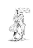 Alice & the White Rabbit Hug, from 100 Hugs - signed copy, by Chris Riddell 9781509814305