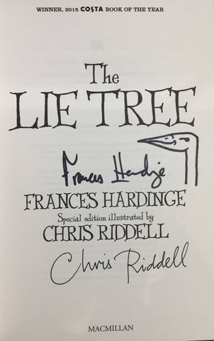 (Currently Reprinting) The Lie Tree - Signed Copy, Written by Frances Hardinge, Signed & Illustrated & by Chris Riddell