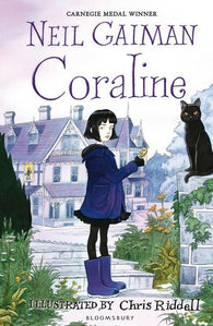 9781408841754 Coraline by Neil Gaiman, signed & illustrated by Chris Riddell