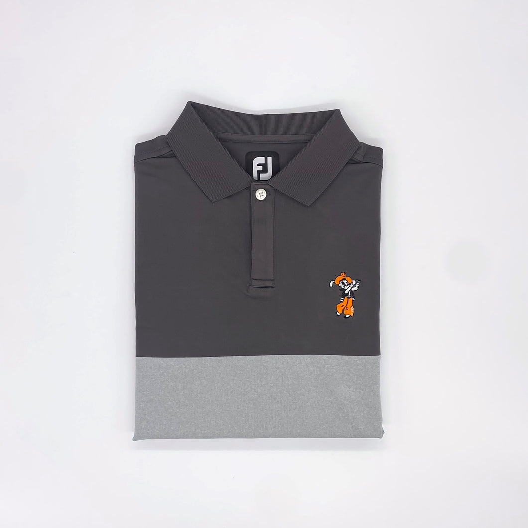 FootJoy Lisle Simple Block Knit Collar Polo
