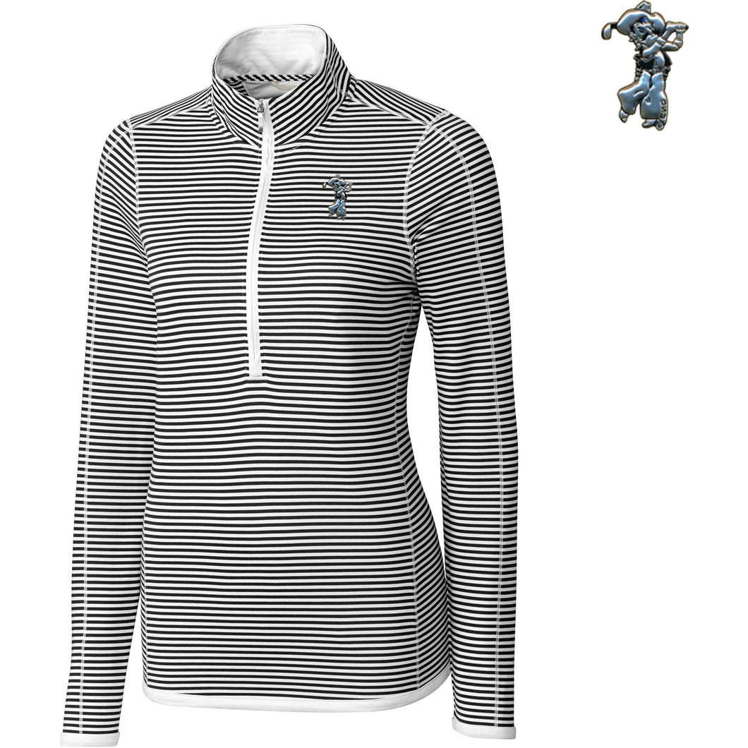 C&B Ladies' 3/4 Zip Trevor Stripe Pullover