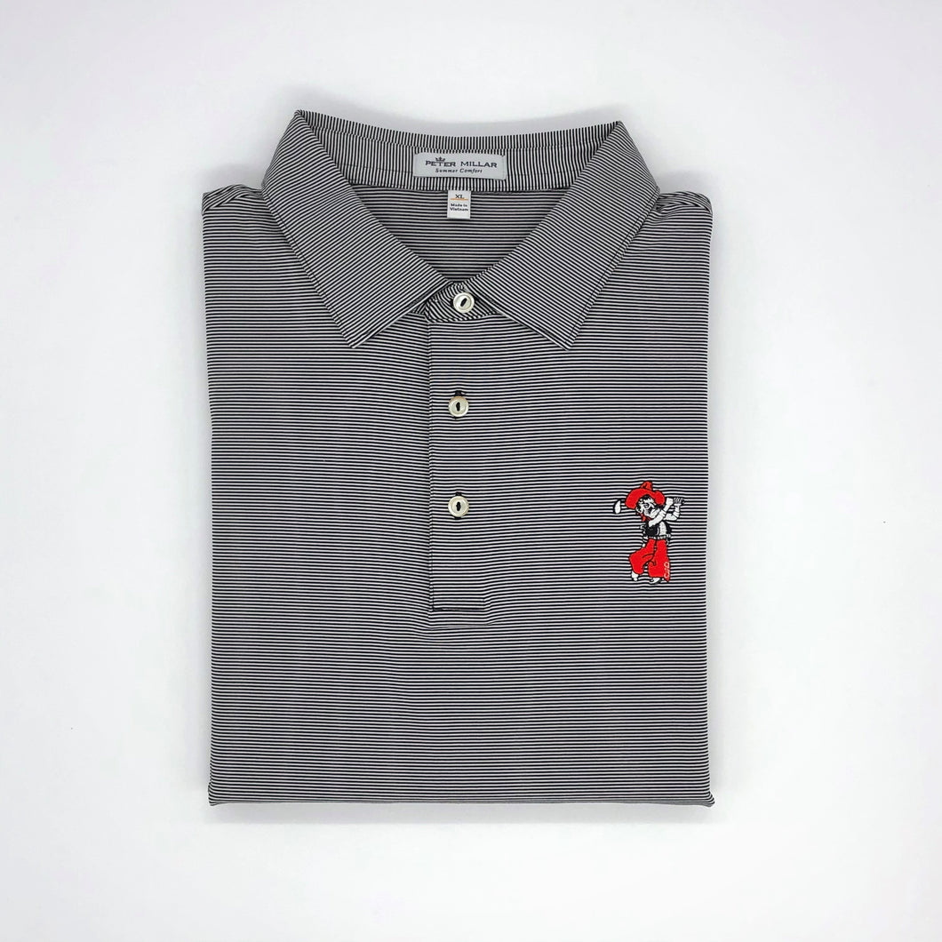 Peter Millar Jubilee Stripe Performance Polo-Black