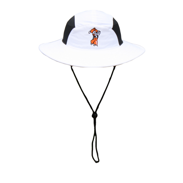 Imperial Swinging Pete Bucket Hat- White with Black