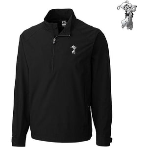C&B Men's WeatherTec Summit 1/2 Zip Pullover - Platinum  Pete Logo