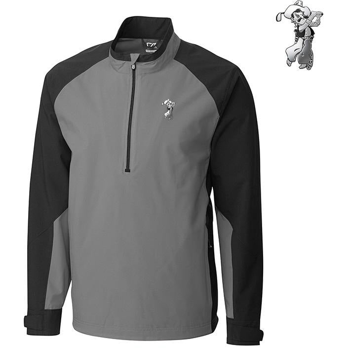C&B Men's WeatherTec Summit 1/2 Zip Pullover- Platinum Pete Logo