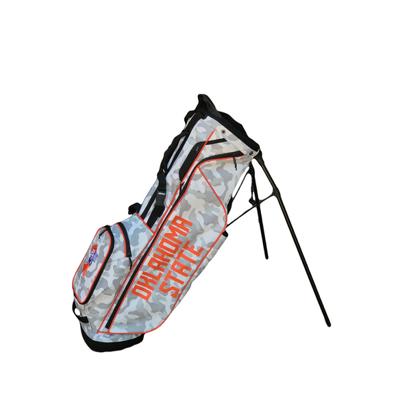 Ping Hoofer Lite White Camo with Orange Oklahoma State Bag