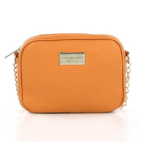 Michael Kors Jet Set Logo Small Orange Crossbody Bags Outlet