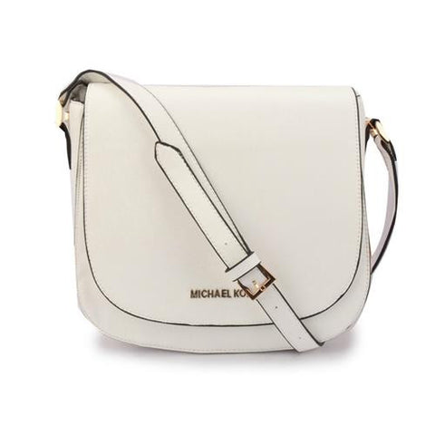 947be7903563 Michael Kors Hayes Messenger Small White Crossbody Bags – Michael ...