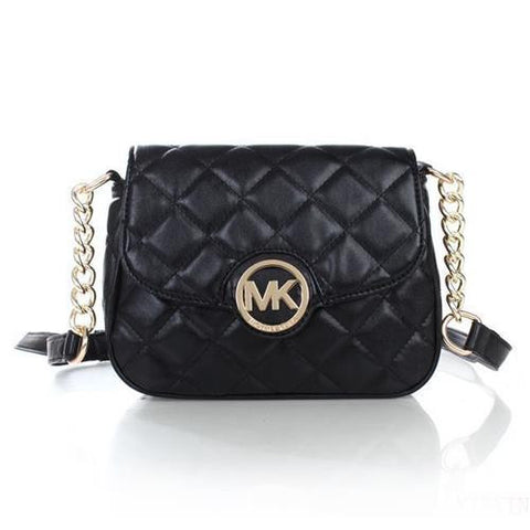 99d4bbd92398 Michael Kors Fulton Quilted Leather Small Black Crossbody Bags ...