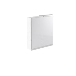 Vernazza 600mm Mirror Cabinet White with Light & Shaver Socket