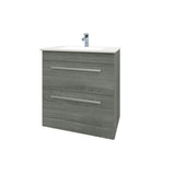 Roma 750mm Vanity Unit & Ceramic Basin Grey Ash