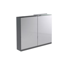 Vernazza 800mm Mirror Cabinet Grey with Light & Shaver Socket