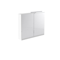 Vernazza 800mm Mirror Cabinet White with Light & Shaver Socket