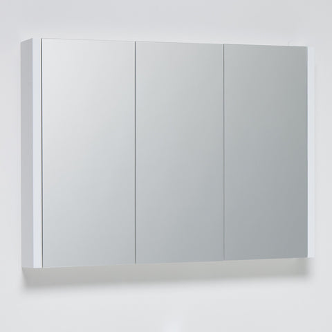 Roma 900mm Mirror Cabinet White