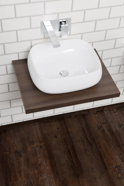 Ivora Wall Hung Vessel Bowl & Floating Shelf Walnut