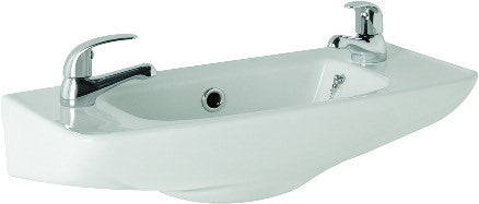 Essential 2 Tap Hole Cloakroom Basin