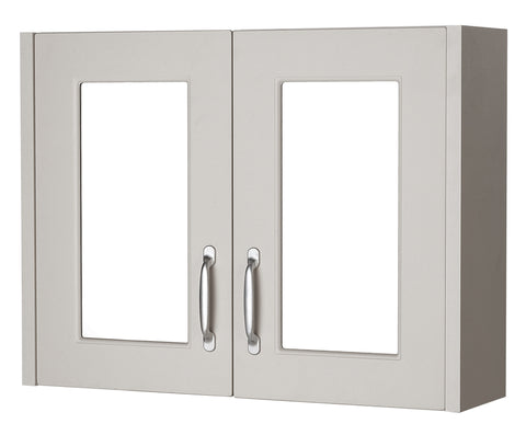 Ayton 800mm Mirror Cabinet Grey
