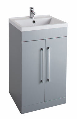 Veratti 500mm Floor Standing Vanity Unit & Ceramic Basin Grey