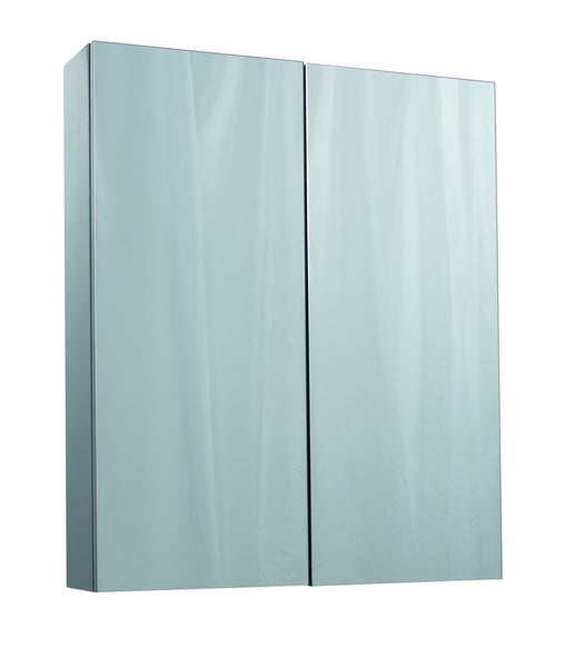Veratti 600mm Wall Hung Mirror Cabinet Grey