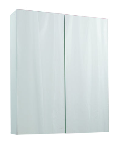 Veratti 600mm Wall Hung Mirror Cabinet White
