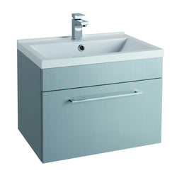 Veratti 600mm Wall Hung Vanity Unit & Ceramic Basin Grey