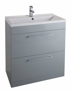 Veratti 600mm Floor Standing Vanity Unit & Ceramic Basin Grey