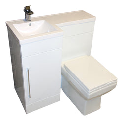 Titan L-Shaped 900mm Vanity & WC Unit Toilet